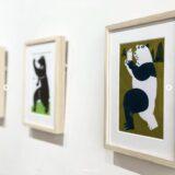[静岡]楽しいポーズの動物たちが勢揃い「鈴村温原画展」ひばりブックスで開催中